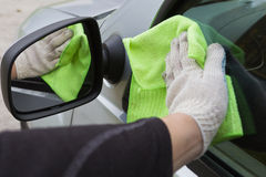 Cleaning the car Stock Images