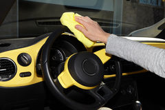 Cleaning the car. Royalty Free Stock Photography