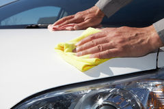 Cleaning the car. Royalty Free Stock Images