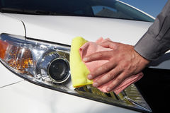 Cleaning the car. Stock Image