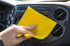 Cleaning car inside Royalty Free Stock Images