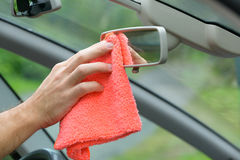 Cleaning car interior Stock Photography