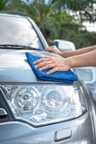 Cleaning the car Royalty Free Stock Photography