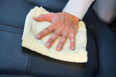 Cleaning car seat Stock Photography