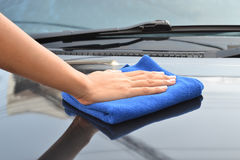 Cleaning car Royalty Free Stock Photography