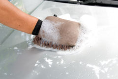 Cleaning car Stock Photo