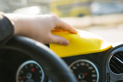 Cleaning car Royalty Free Stock Photos