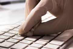 Cleaning and caring keyboard Royalty Free Stock Photography