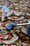 Cleaning carpet stock photography