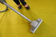Cleaning the carpet Stock Images