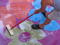 Cleaning carpet Royalty Free Stock Photography