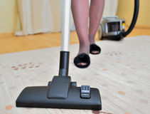 Cleaning carpet Stock Images