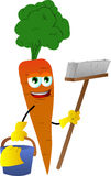 Cleaning carrot Royalty Free Stock Photography