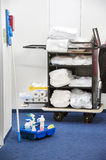 Cleaning cart stock photo
