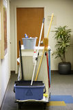Cleaning cart Stock Image