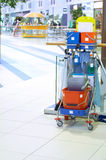 Cleaning cart. Service of cleaning of the big premises