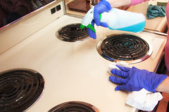 Cleaning chores royalty free stock photography