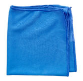 Cleaning cloth. A blue microfiber cleaning towel, over white background Royalty Free Stock Photos