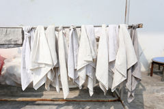Cleaning Cloth. Cleaning Cloth hanging on a clothesline Royalty Free Stock Image