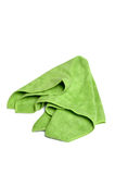 Cleaning cloth. New green cleaning cloth isolated on a white background Royalty Free Stock Images