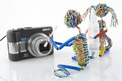 Cleaning of compact optics Stock Photography