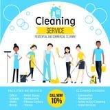 Cleaning Company海报 免版税图库摄影