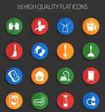 Cleaning company 16 flat icons. Cleaning company vector icons for web and user interface design vector illustration