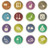 Cleaning company icon set. Cleaning company vector icons for user interface design royalty free illustration