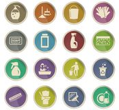Cleaning company icon set. Cleaning company vector icons for user interface design vector illustration