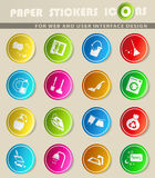 Cleaning company icon set. Cleaning company icons for user interface design stock illustration