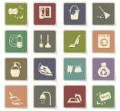 Cleaning company icon set. Cleaning company icons for user interface design royalty free illustration