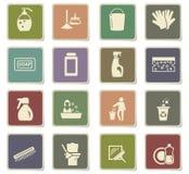 Cleaning company icon set. Cleaning company icons for user interface design vector illustration