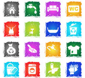 Cleaning company icon set Stock Photo