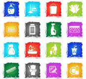 Cleaning company icon set. Cleaning company web icons in grunge style for user interface design vector illustration