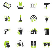 Cleaning company icon set Royalty Free Stock Photos