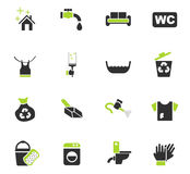 Cleaning company icon set Stock Photography