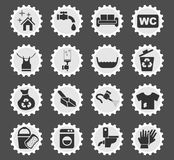 Cleaning company icon set Royalty Free Stock Photo