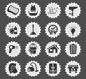 Cleaning company icon set Royalty Free Stock Photography