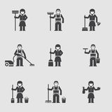 Cleaning company, vector icon, professional Stock Image