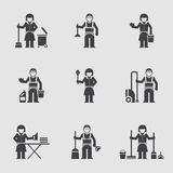 Cleaning company, vector icon, professional Royalty Free Stock Photos