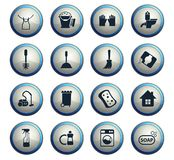 Cleaning company icon set. Cleaning company vector icons for web and user interface design stock illustration