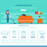 Cleaning Company Web Page Template royalty free illustration