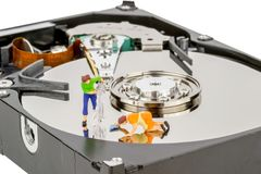 Cleaning Computer Hard Drive Stock Photos