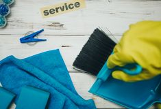 Cleaning house or office concept royalty free stock photos