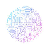 Cleaning concept, poster. Royalty Free Stock Photography