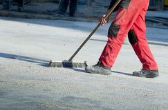 Cleaning construction site Stock Photography