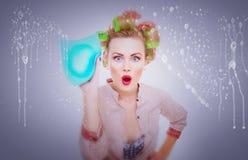 Cleaning dama Fotografia Stock
