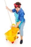 cleaning damy kwacz wykręca Zdjęcie Stock