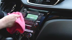 Cleaning Dashboard With Cloth
