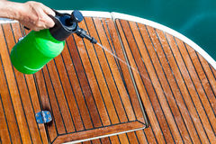 Cleaning Deck Royalty Free Stock Photography
